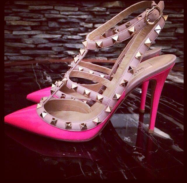 fashion, neon, pink and shoes