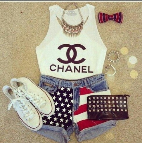 accessories, all star, bags, blouses, bows, bracelets, chanel, converse, fashion, jeans, necklace, outfit, outfits, shoes, shorts, t-shirts, white