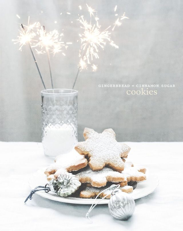 christmas, cookies, gingerbread and milk
