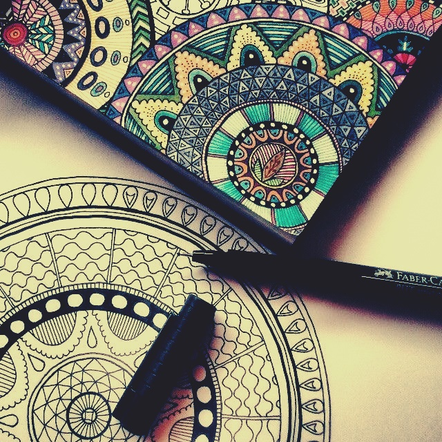 art, drawing and mandala