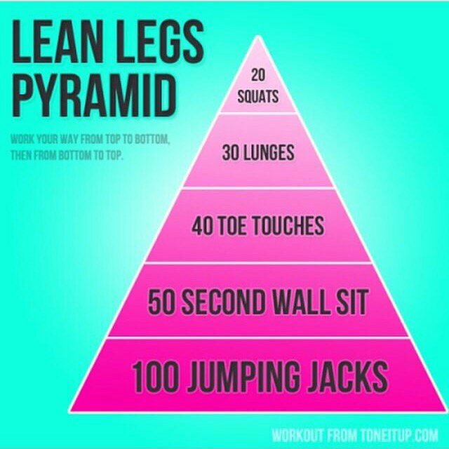 exercise, fitness, lunges, pyramid, squats, workout, wallsit, jumpingjacks, leanlegs, toetouches