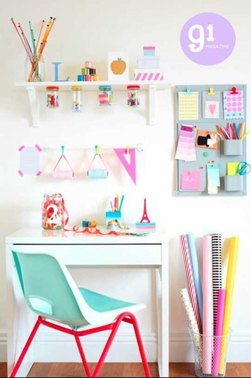 Bedroom diy organized pastel colors room ideas study for Pastel diy room decor