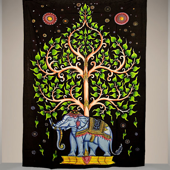 Tree of Life Hippie Tapestry Bohemian Wall Hanging Bedspread Twin Ethnic Decor