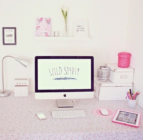 Apple Bedroom Cute Decor Girly Imac Mac Organized