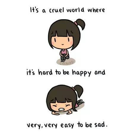 be strong, cute, girl, happy, hard, life, quotes, sad ...