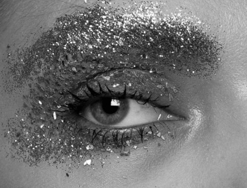 black and white, blue eyes, brown eyes, eyeshadow, fashion, girly, glitter, green eyes, grunge, hipster, makeup, night, party, photograph
