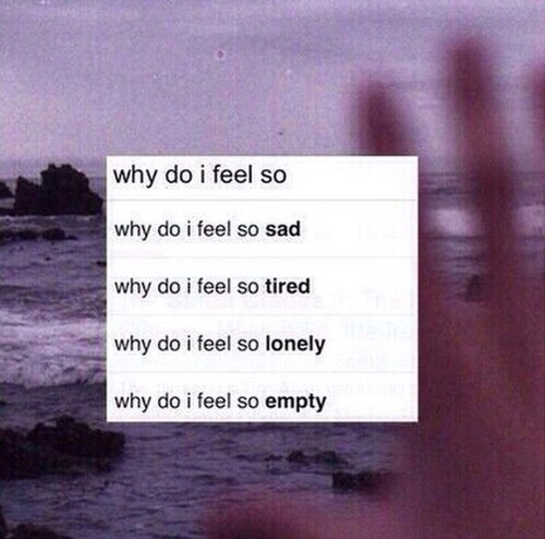 empty, feelings, lonely and sad