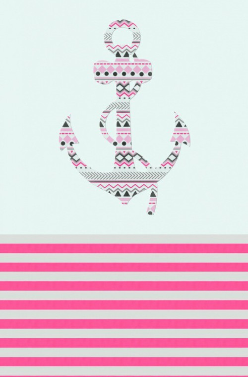 Anchor Background Iphone Love Mobile Pink And