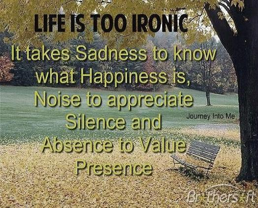 Life Is Ironic Quote: Journey Into Me - Image #2687217 By