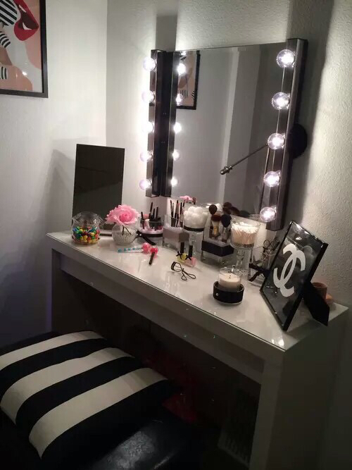 bedroom, cute, deco, decor, design, fashion, girl, home, inspiration, love, makeup, room, style ...