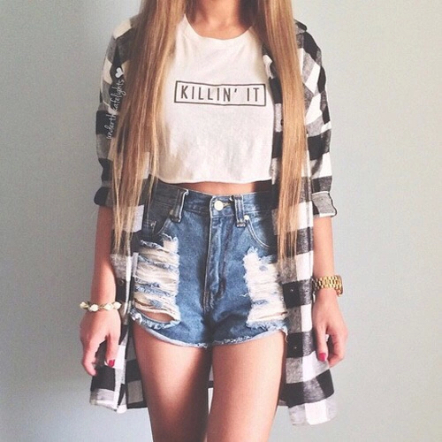 Blonde Cool Fashion Girl Girly Ideas Life Outfit Outfits Short Still Style - Image ...