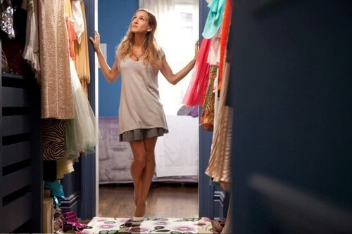 carrie bradshaw, closet, clothing, fashionista, sex and the city, style, wardrobe, want to own