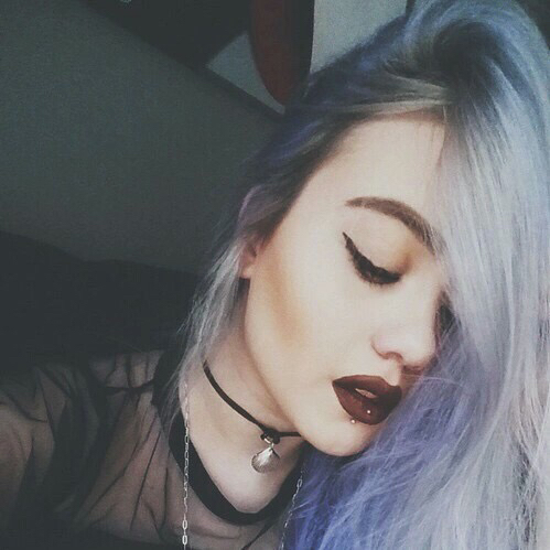 Hipster makeup and hair