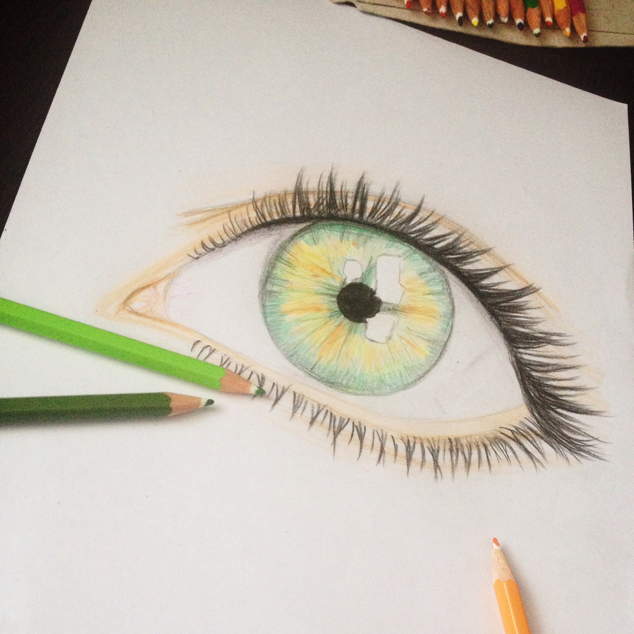 art, beautiful, colored pencils and colors