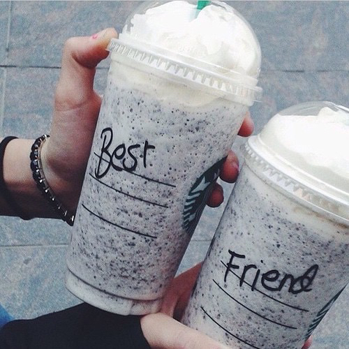 backgrounds, best friend quotes, best friends, drinks, random, starbucks, follow you back