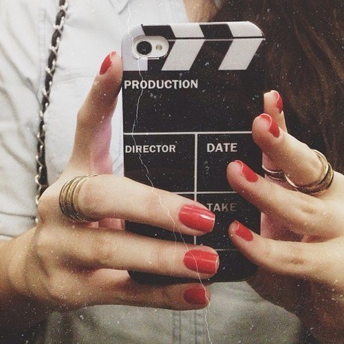 apple, brunette, case, cell phone, cool, decor, design, girl, inspiration, iphone, iphone case, long hair, mirror, mobile, movie, phone, production, selfie, smart phone, telephone
