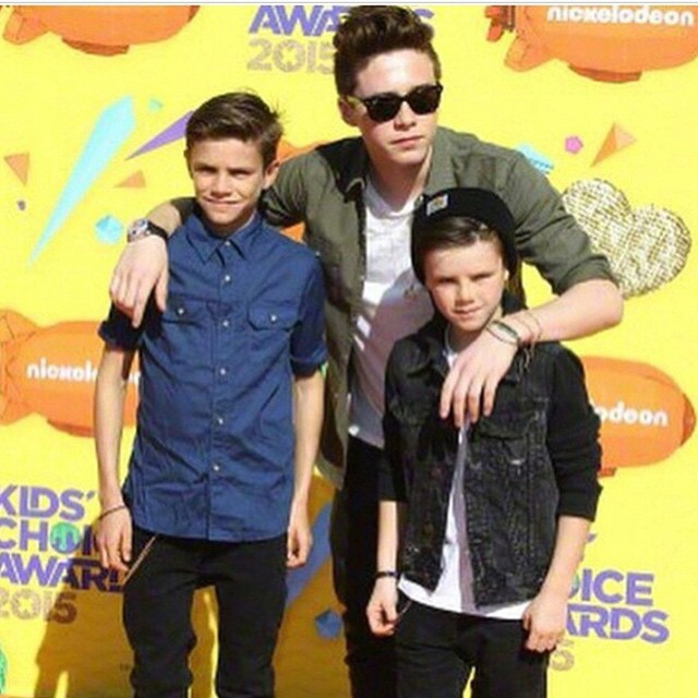 romeo beckham, brooklyn beckham and cruz beckham