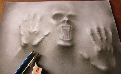 3d, amazing, drawing, pencil