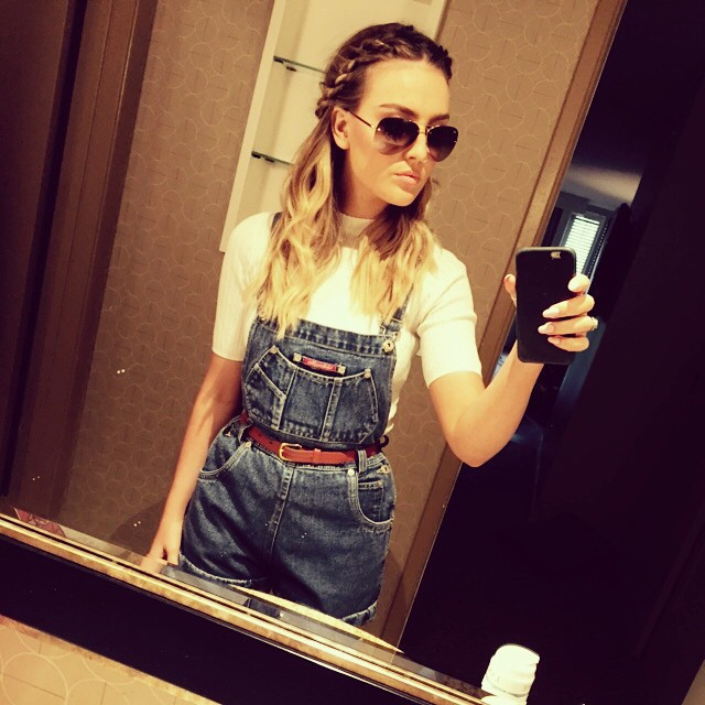 beautiful, hair, jumpsuit, little mix, outfit, perrie edwards, style, sunglasses, crown braid