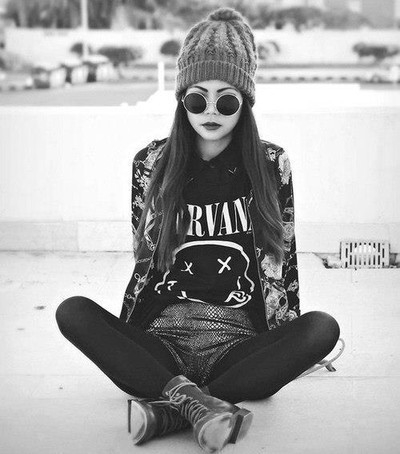 black, girl, grunge, hipster, indie, style, style girl