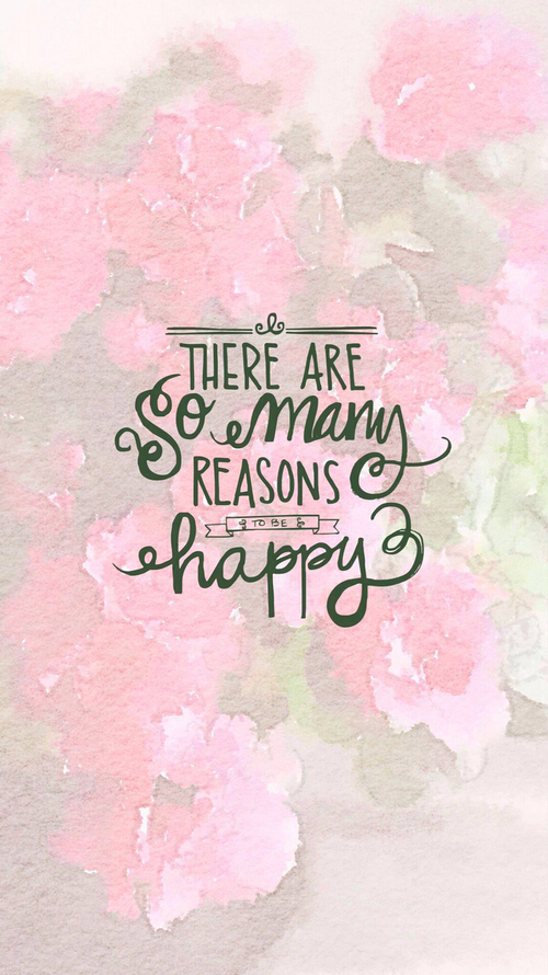 are, background, be, happy, inspirational, iphone, many, pink, quote, reasons...