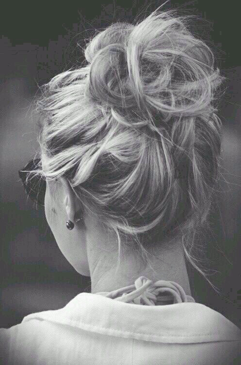 Beautiful messy hairstyle : Messy bun image by patrisha on favim