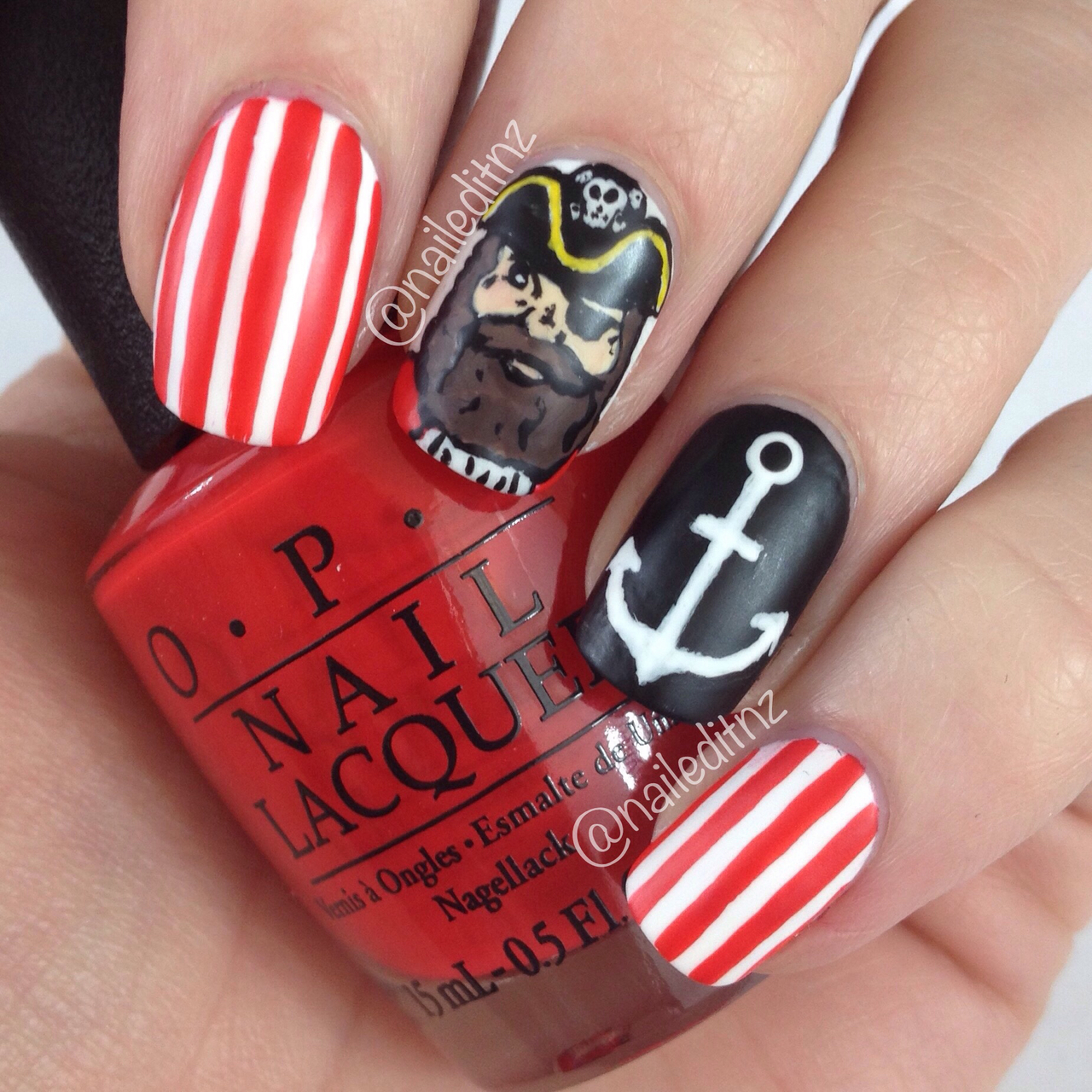 Pirate nail art by Nailed It NZ - - image #2965594 by marine21 on