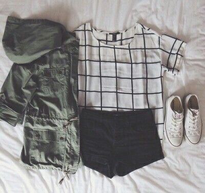 Girl grunge hipster outfits pale style tumblr converse - image #2966054 by helena888 on ...