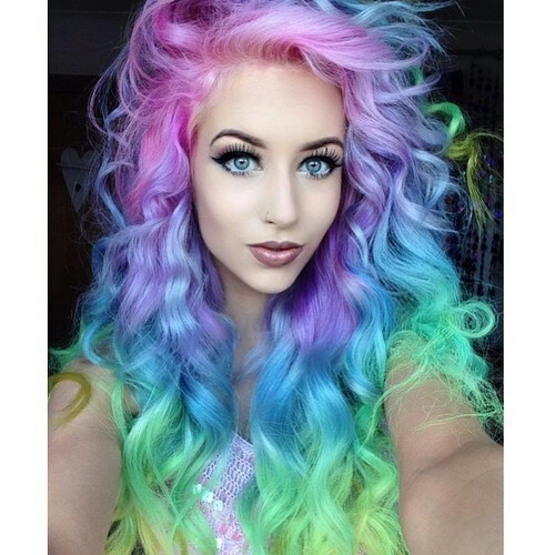 Rainbow Hair Image 2969284 By Marine21 On Favim Com