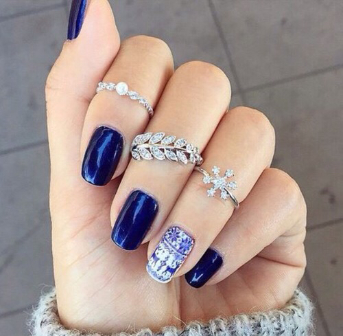 Gorgeous nails perfect for winter ❄️ or any , image
