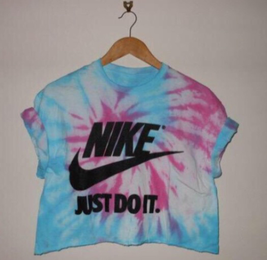 Brand clothes croptop fashion justdoit nike shirt for Nike tie dye shirt and shorts
