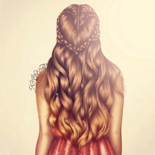 art, braid, curly, draw, drawing, fashion, girl, hair