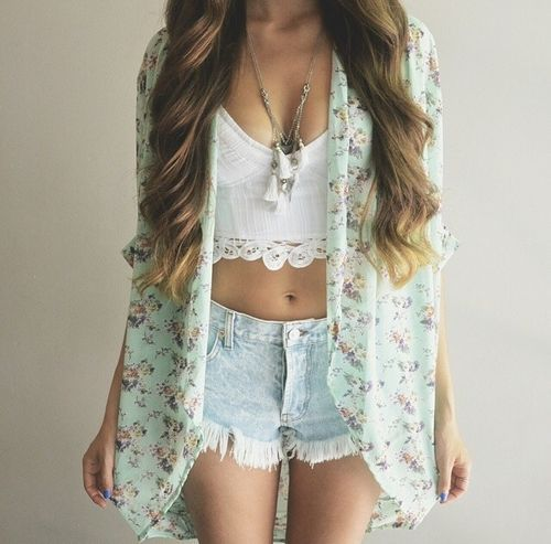 <3, blue, cardigan, cute, fashion, green, hair, hairs, hot, lovely, nail, nails, pink, ripped jeans, stunner, stunning, style, summer, summer vibes, tumblr, tumblr girl, vibes, white, tumblr quality, croptops, hair goals, nail goals