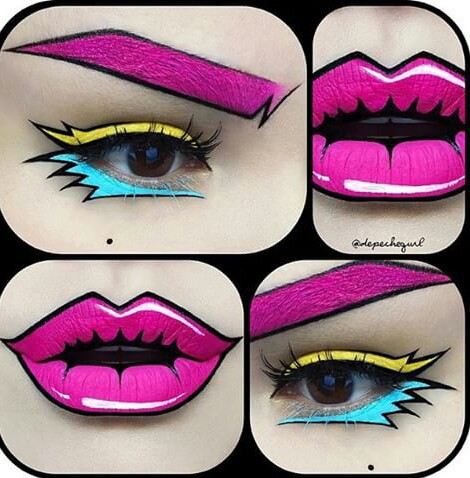Halloween Pop Art Makeup - Image #3102447 By Marine21 On Favim.com