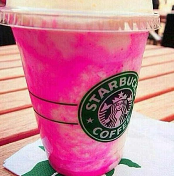 Pink Starbucks Drink Ice Cold Drink