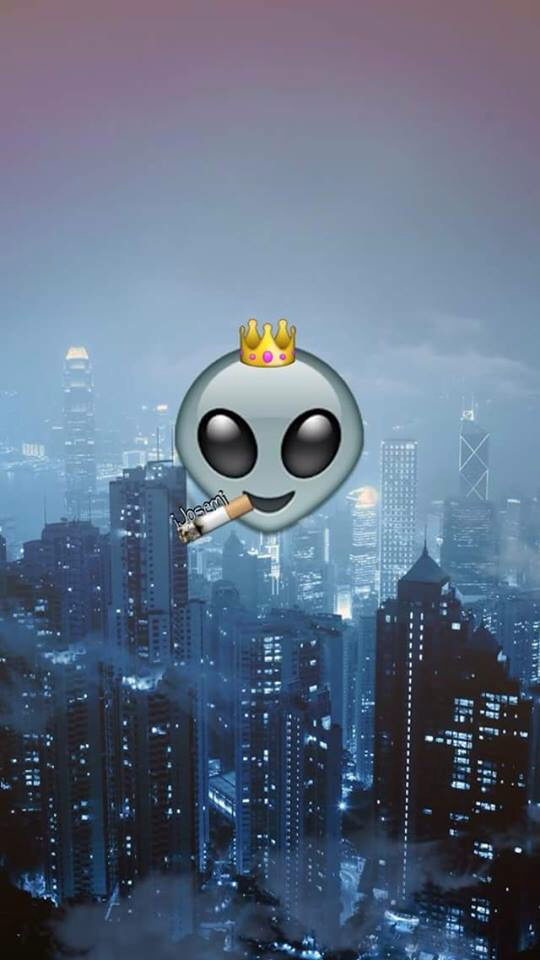 alien, background, emoji, queen, smoke, wallpaper - image ...