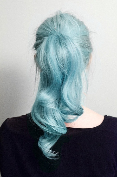 beautiful, beauty, blue hair and body