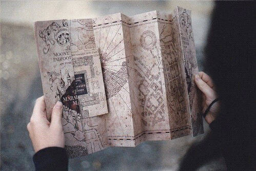 grunge, hands, indie, magic, map, vintage, ️harry potter, goth gothic