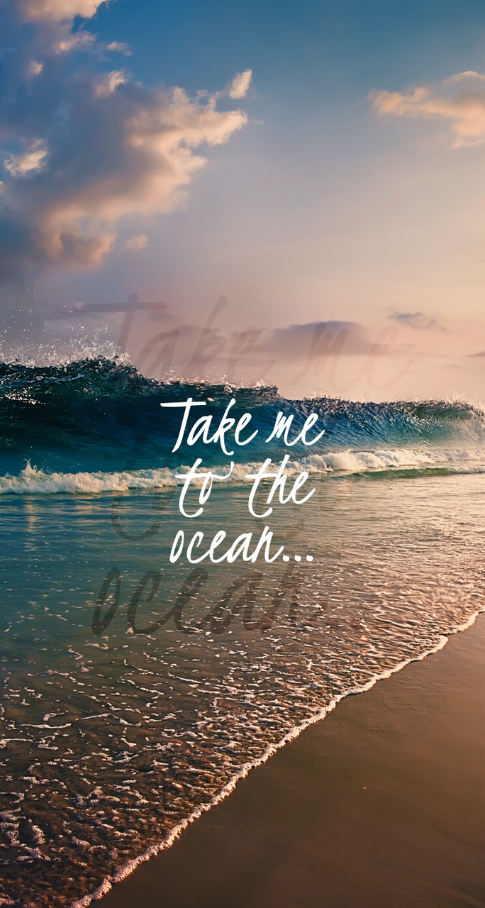background, iphone wallpaper, ocean, ocean waves, quotes ...