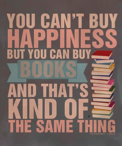 books, happiness, read and weheartit
