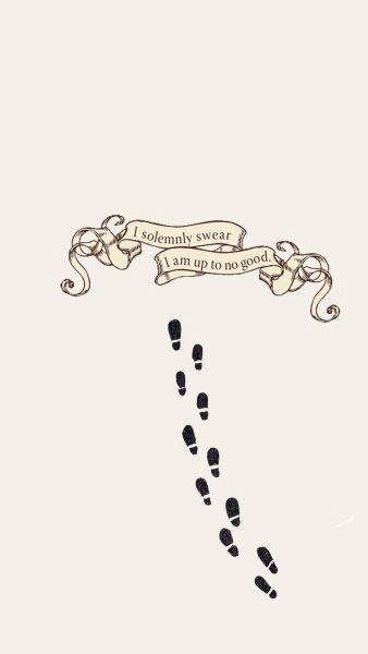footsteps, james potter, map, moony, padfoot, peter ...