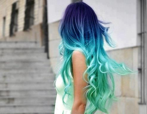 aqua, beautiful, blue, color, cool, flow, girl, goals, hair, hipster, makeup, mermaid, pretty, purple, style, summer, tumblr, First Set on Favim.com
