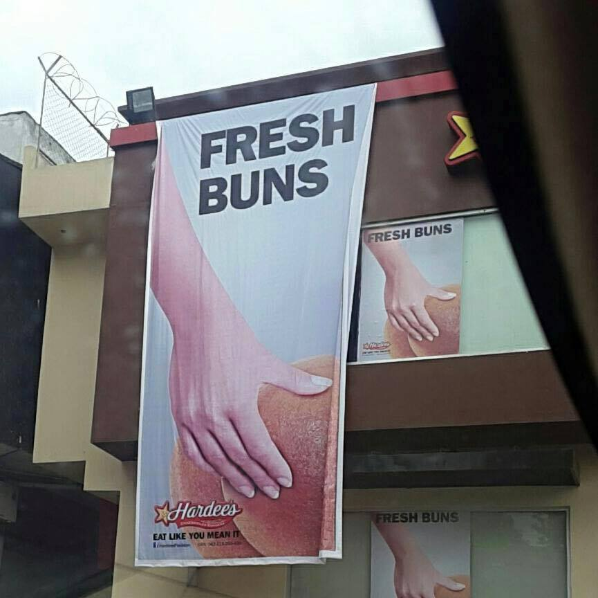 advertise, advertisement, buns, butts, funny, lol