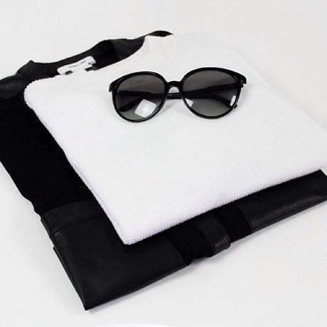 black and white, clothes, fashion and glasses