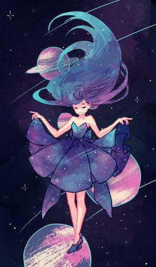 Girl in Galaxy - image #3378877 by helena888 on Favim.com