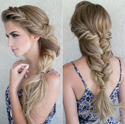 amazing, beautiful, blonde, braid, braided hair, for girls, girl, hair, hair fashion, hairstyle, make up, nails, perfect, style