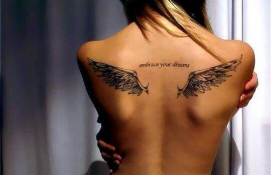 angel, girl, girly and tattoo