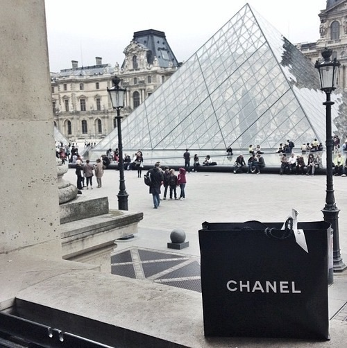 black and white, building, chanel, fashion, luxury, pyramid, summer