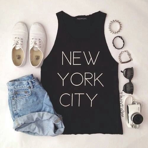 Cute Fashion New York City Outfit Style Image 3459983 By Marine21 On