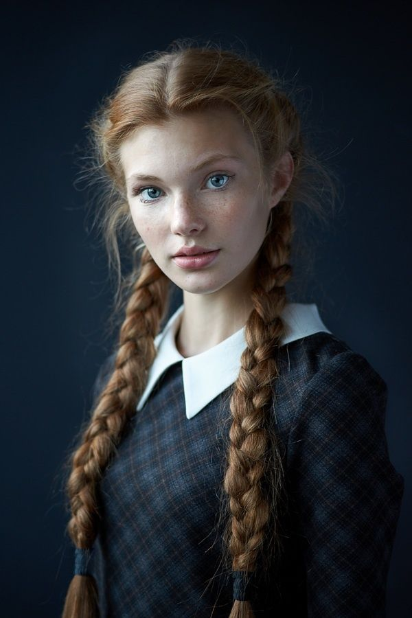 beauty, braids, cute, fashion, freckles, girl, hair, natural, outfit, red, redhead, style, vintage